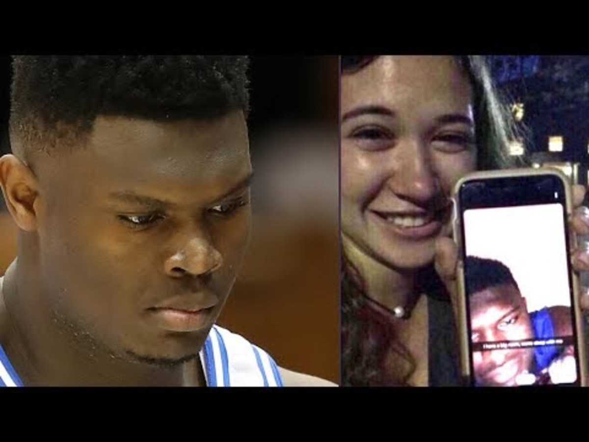 Zion Williamson Caught Sending Thirsty Snapchat Trying To Get UNC Girl Into His Bedroom
