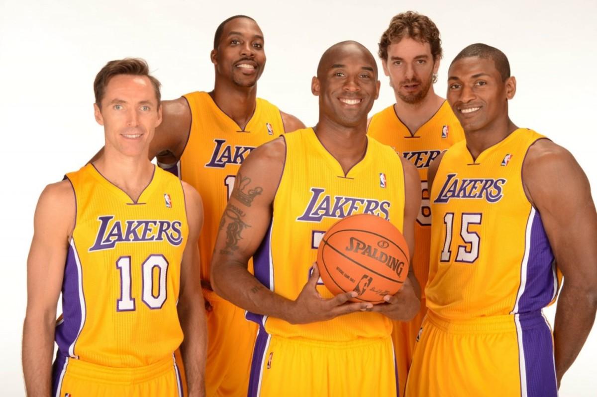 Kobe Bryant, Dwight Howard, Steve Nash, Pau Gasol, Ron Artest