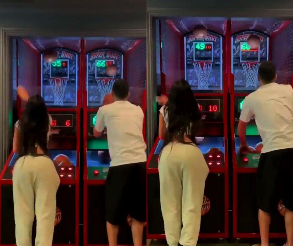 Devin Booker Defeats Kendall Jenner In Pop-A-Shot Game: 'New High Score'