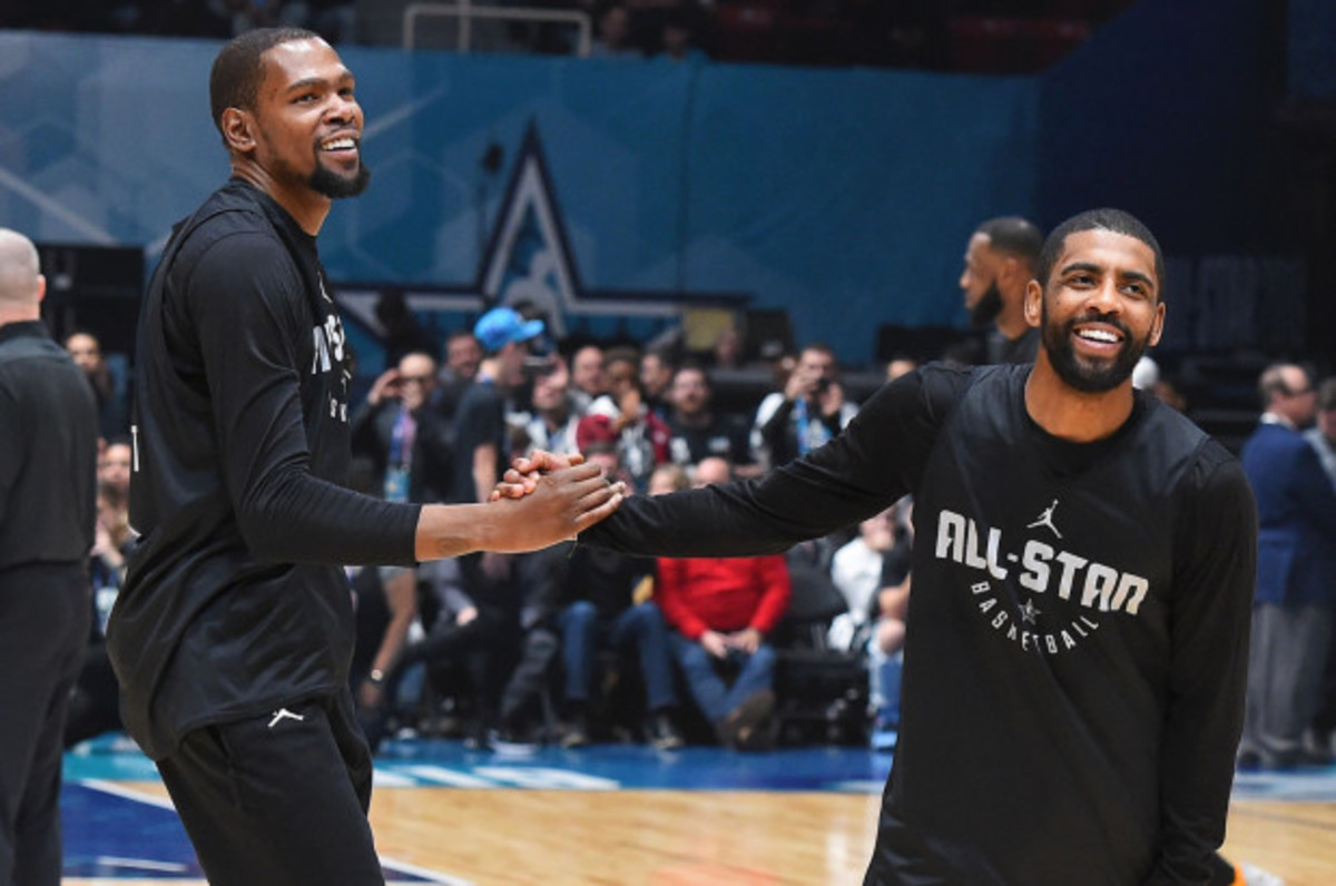 """Kyrie Irving To Kevin Durant Before They Signed With The Nets: """"They Got Two Max Slots, It's Time!"""""""