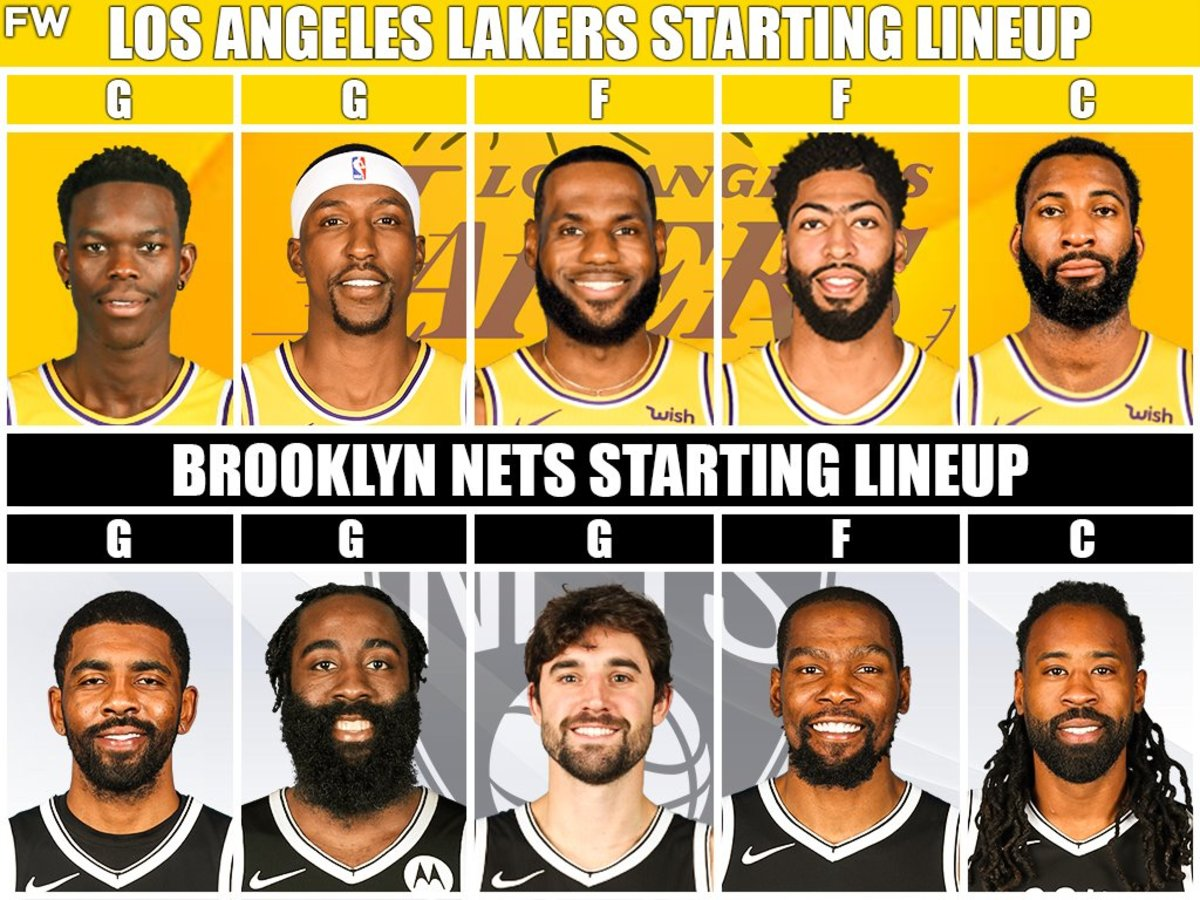 Lakers vs. Nets Starting Lineups
