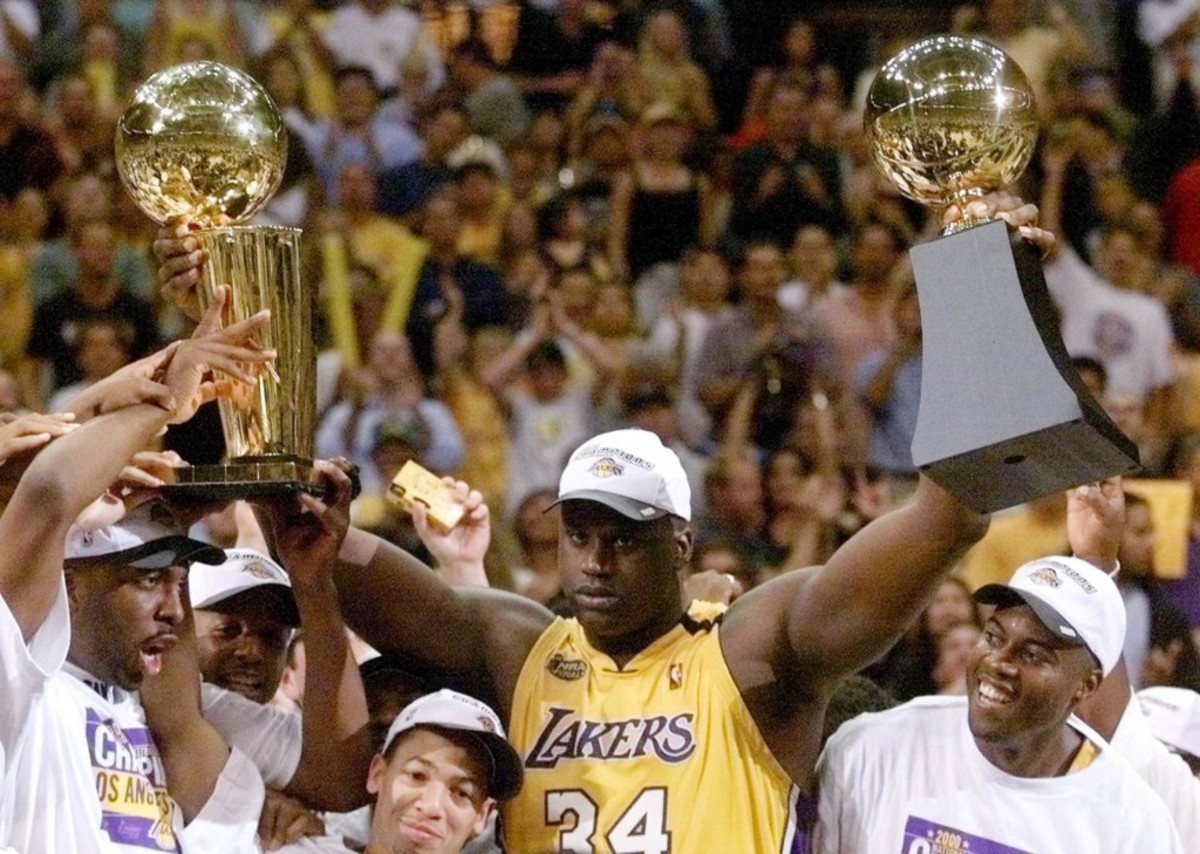 Shaq O'Neal Begins Lakers Three-Peat With First NBA Finals MVP