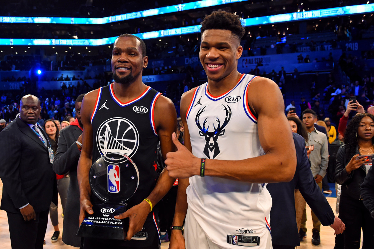"""Giannis Antetokounmpo On Kevin Durant- """"He's One Of The Greatest Scorers To Ever Play The Game."""""""