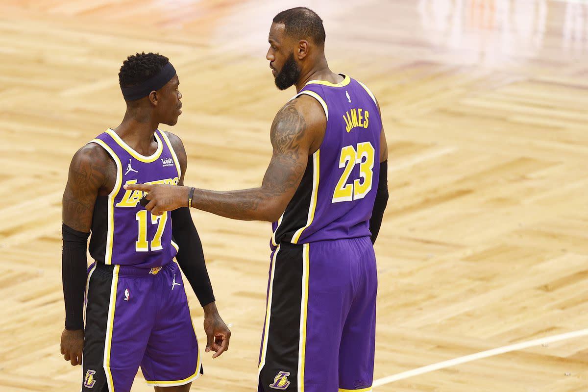 """Dennis Schroder Says He And LeBron James Are The Only Lakers Who Are Not Vaccinated- """"Nearly The Whole Team Is Vaccinated, Only LeBron And I Are Not, I Think."""""""