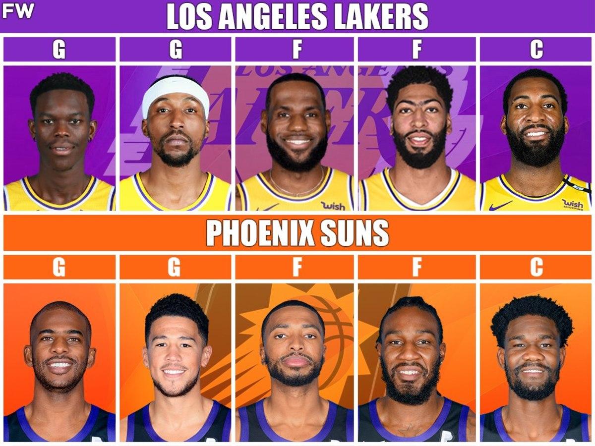 Starting Lineups: Lakers vs. Suns