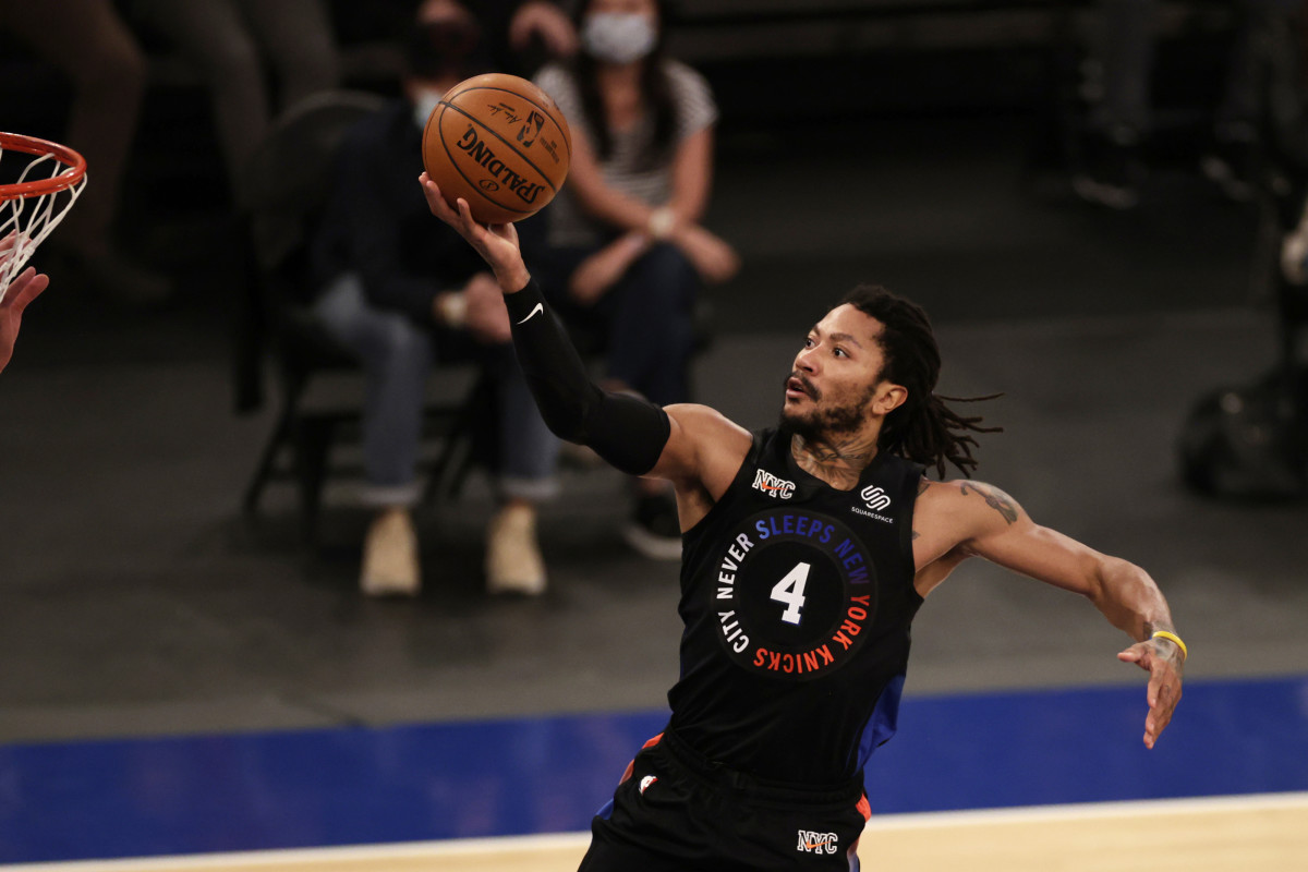 """Derrick Rose Responds After Leading Knicks To Playoff Win- """"I'm Just Very Blessed And Fortunate To Be In This Situation."""""""