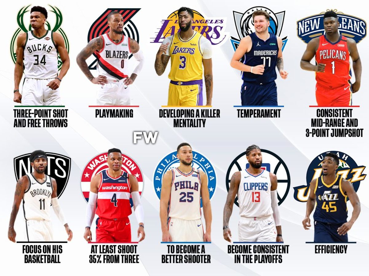 What These 10 Superstars Need To Improve For The Next Season: Westbrook And Giannis Need Jumpers, Lillard Must Become A Superstar Playmaker