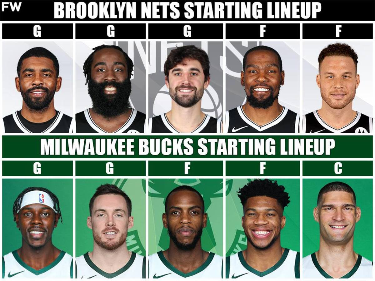 Starting Lineups: Brooklyn Nets vs. Milwaukee Bucks