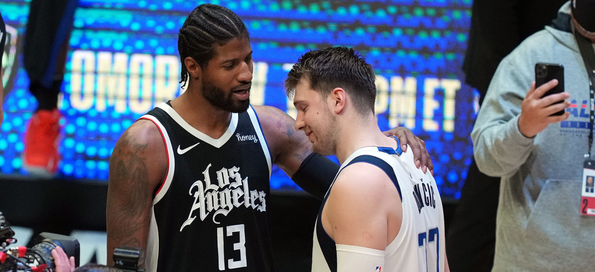 Hilarious Clip Of Luka Doncic Rejecting Paul George's Jersey Swap