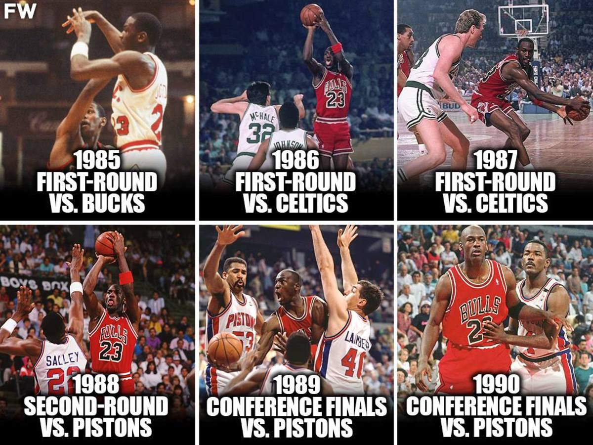 Michael Jordan Was Eliminated 6 Consecutive Times From The NBA Playoffs, Including 3 Consecutive Times In The First-Round