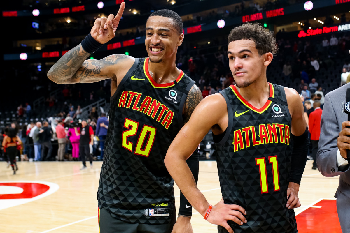 """John Collins- """"I've Been Going To This Gas Station For 4 Years, Dude Didn't Know Who Was. But Now That We've Won A Couple Playoff Games, We Start To See The Energy."""""""