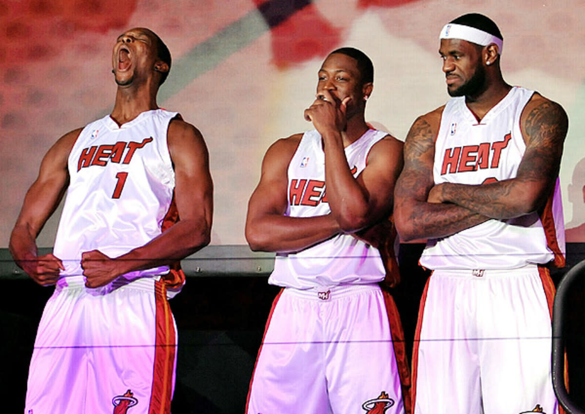 """Chris Bosh On What It Was Like Teaming Up With LeBron James And Dwyane Wade- """"We Were Caught Up In The Moment..."""""""