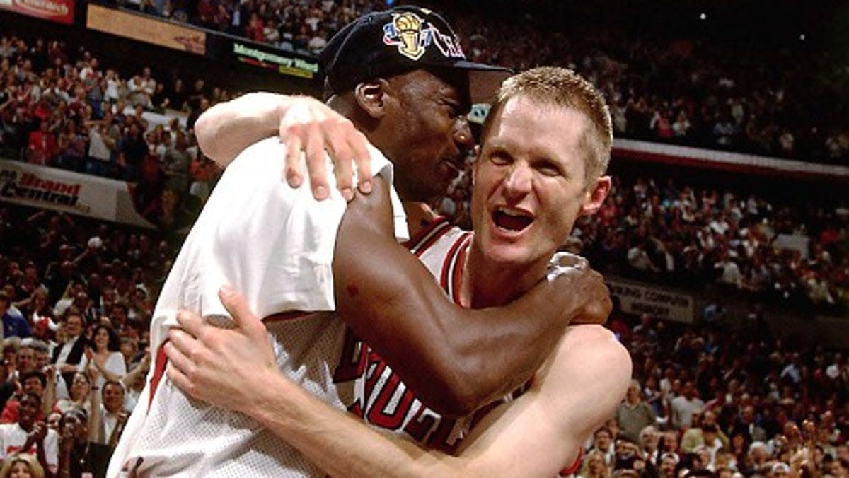 """24 Years Ago Today, Steve Kerr Helped Michael Jordan Win His Fifth NBA Title- """"Well I Guess I Got To Bail Michael Out Again."""""""