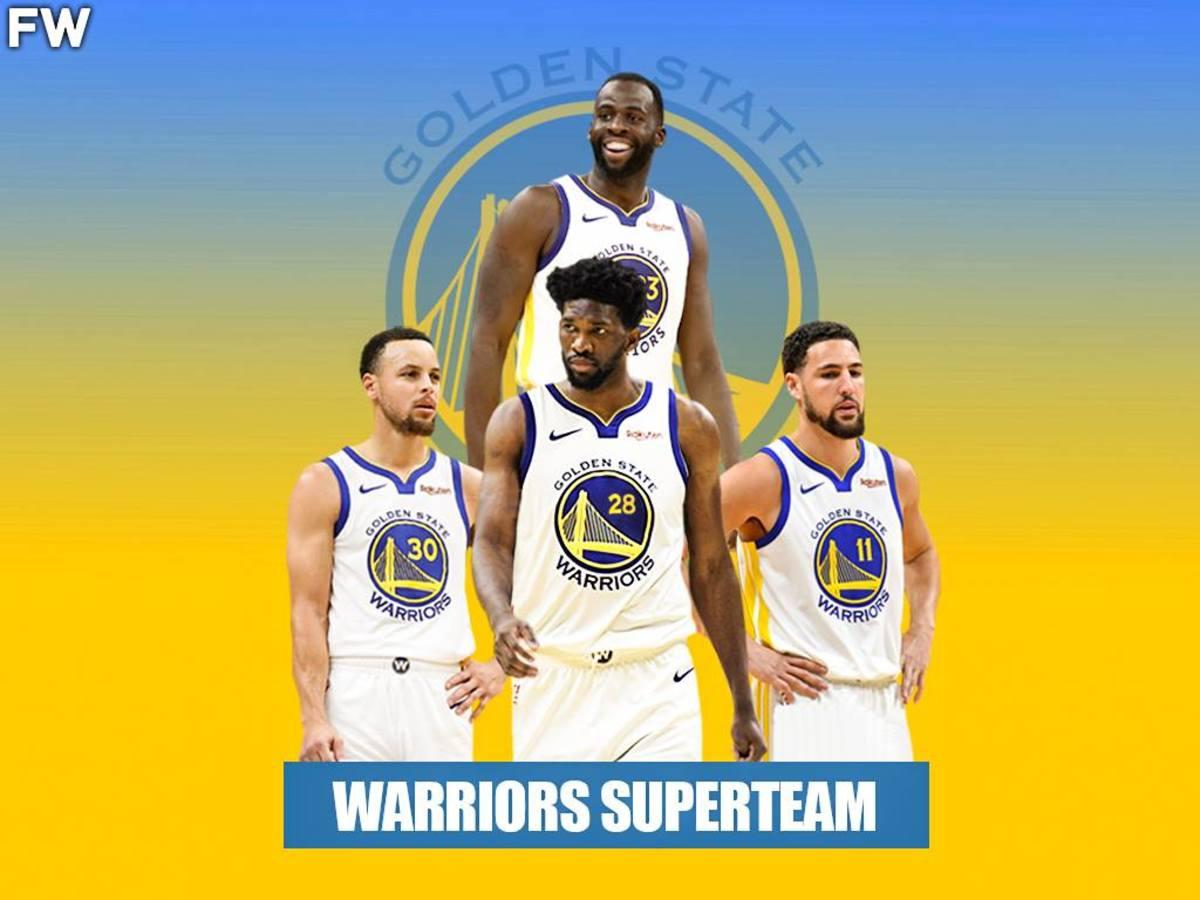 Warriors Superteam - Stephen Curry, Klay Thompson, Draymond Green, Joel Embiid