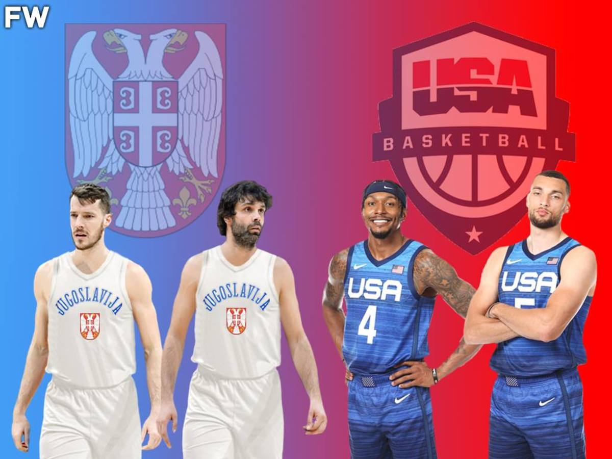 Yugoslavia Bench vs. Team USA Bench