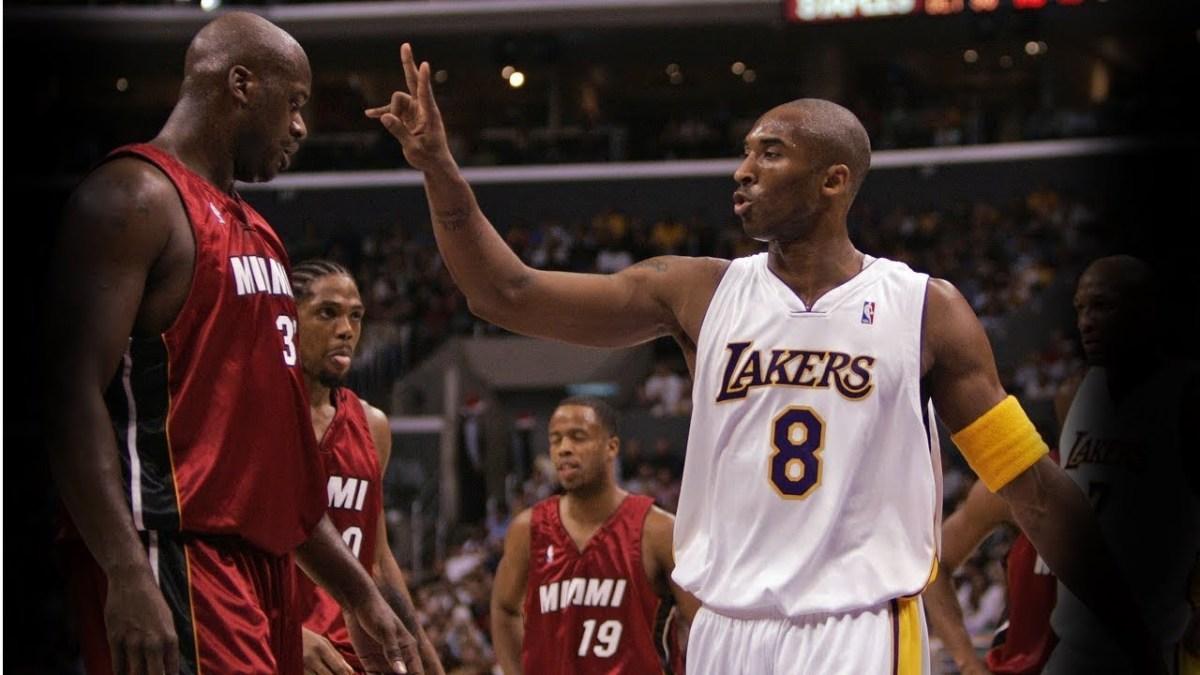 Shaquille O'Neal Miami vs. Kobe Bryant Lakers