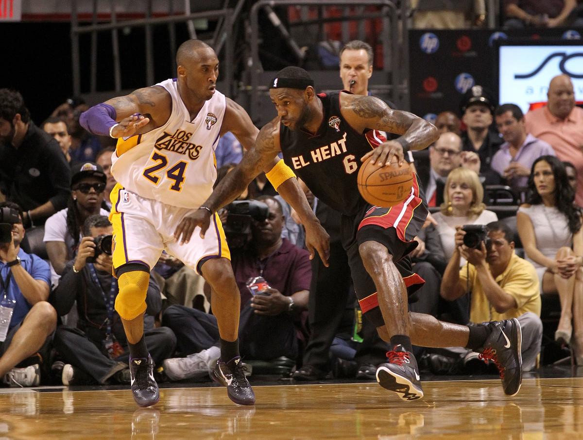 Kobe Lakers vs. LeBron Miami