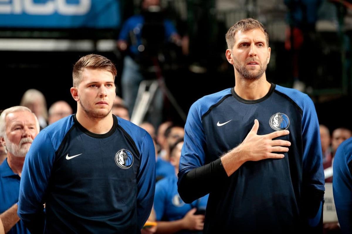 Luka Doncic and Dirk Nowitzki
