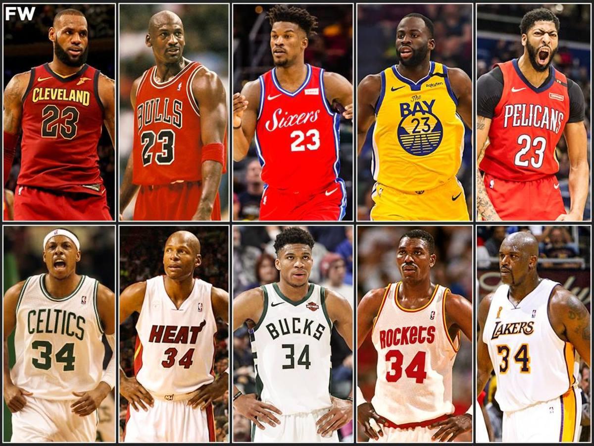Team No. 23 vs. Team No. 34: Michael Jordan And LeBron James vs. Giannis Antetokounmpo And Shaquille O'Neal