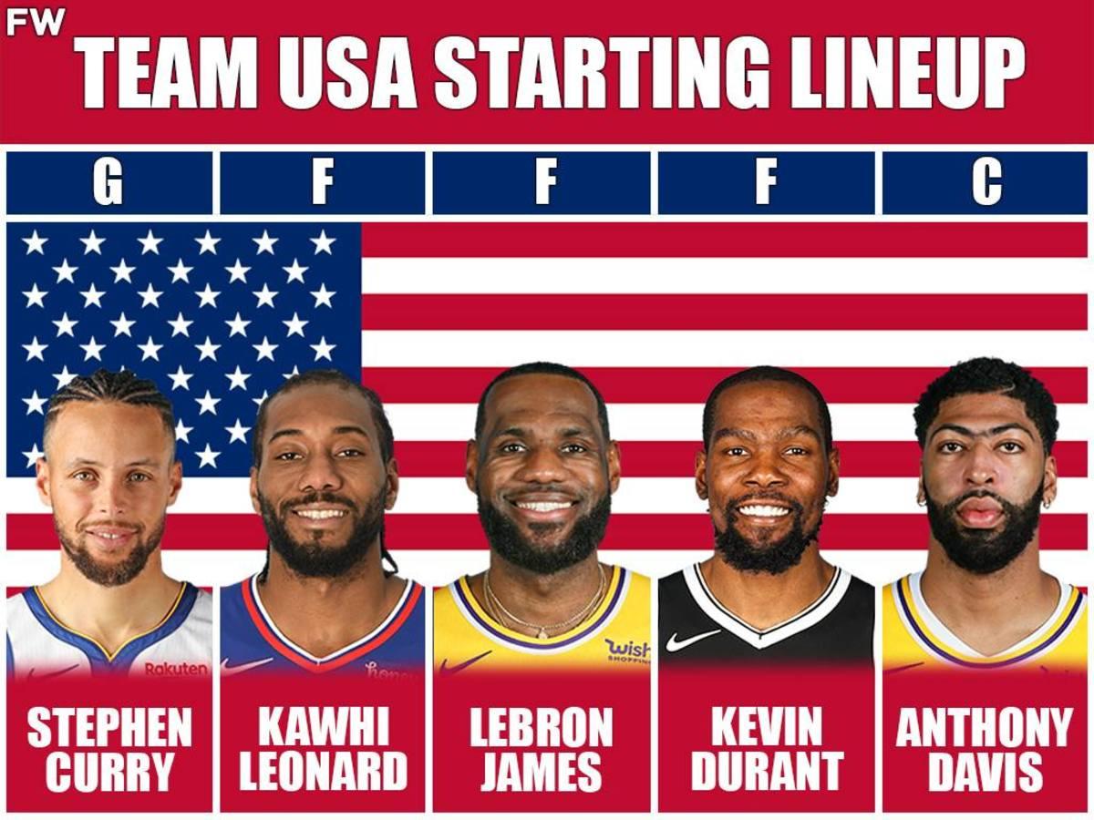 Team USA Starting Lineup