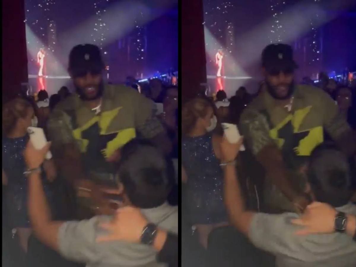 LeBron James Defends Himself And Pushes Fan At Usher Concert