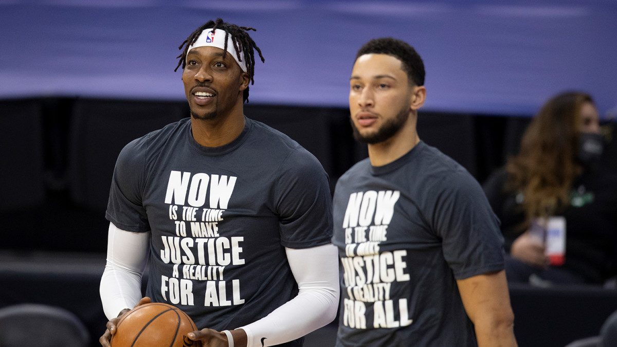 """Dwight Howard Takes Friendly Shot At Ben Simmons After Leaving The 76ers: """"Bend Ya Kneeeesss"""""""