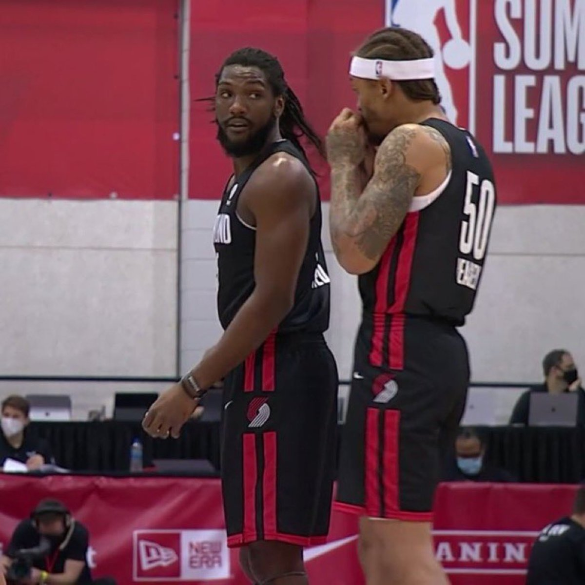 Kenneth Faried And Michael Beasley Are Playing For The Portland Trail Blazers In The NBA Summer League