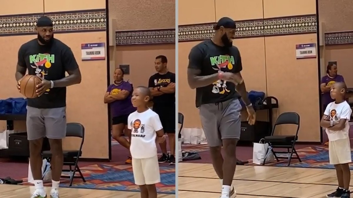 """LeBron James To Dion Waiters' Son After He Missed A Shot On Purpose: """"I Missed That On Purpose So You'd Think I'm Human"""""""