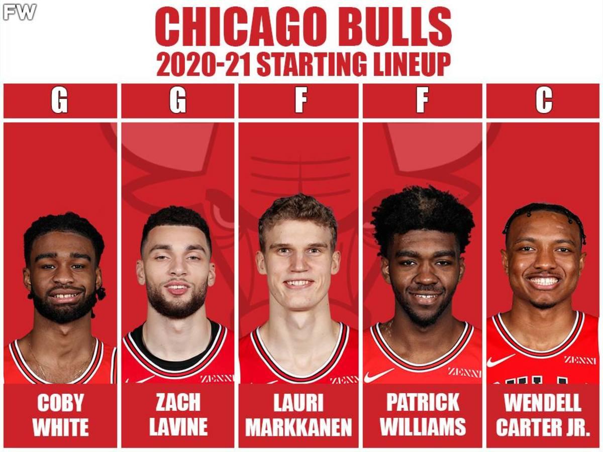 2020-2021 Starting Lineup: Coby White, Zach LaVine, Lauri Markkanen, Patrick Williams, Wendell Carter Jr.