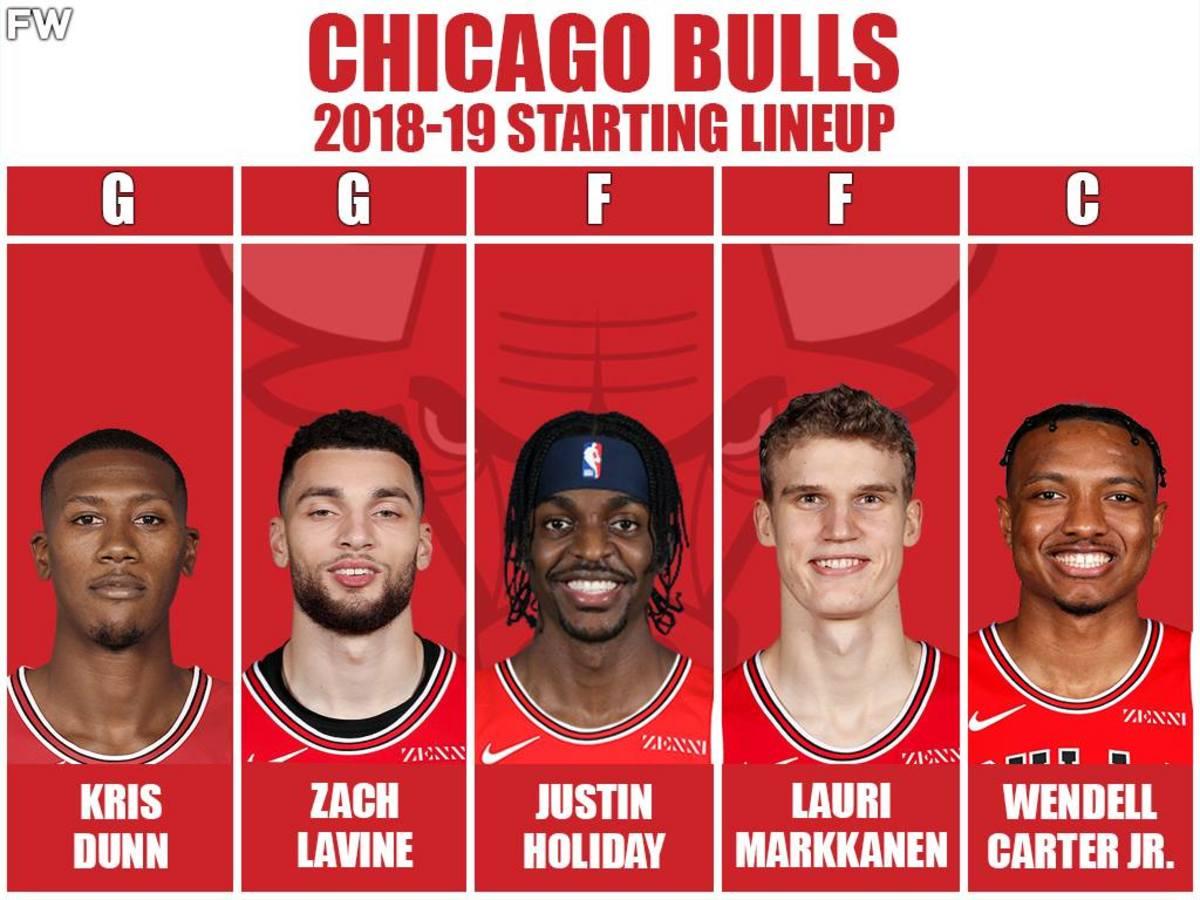 2018/2019 Starting Lineup: Kris Dunn, Zach LaVine, Justin Holiday, Lauri Markkanen, Wendell Carter Jr.