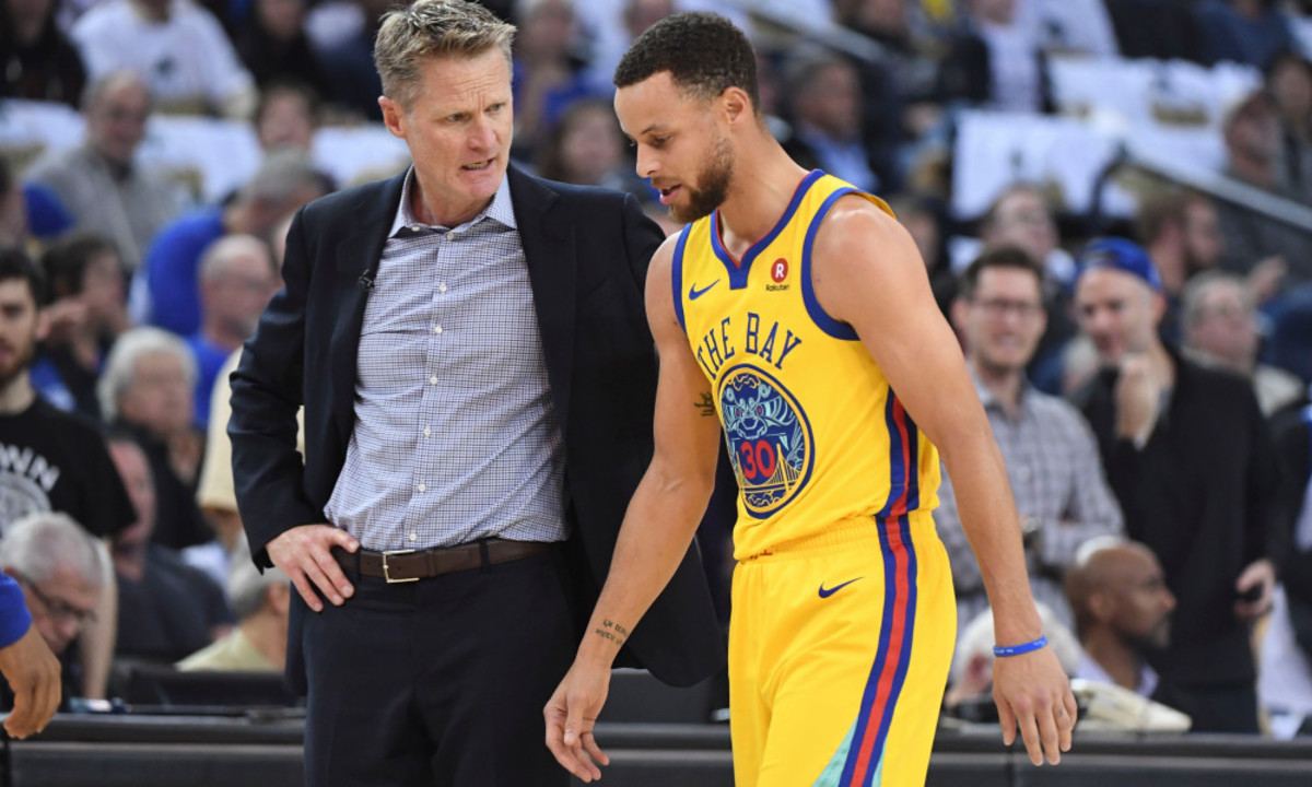 """Steve Kerr Supports NBA Changing The Foul Rule: """"If We're Making Those Calls In The NBA, When We Couldn't Get Through A Pickup Game, Then We're Doing Something Wrong."""""""