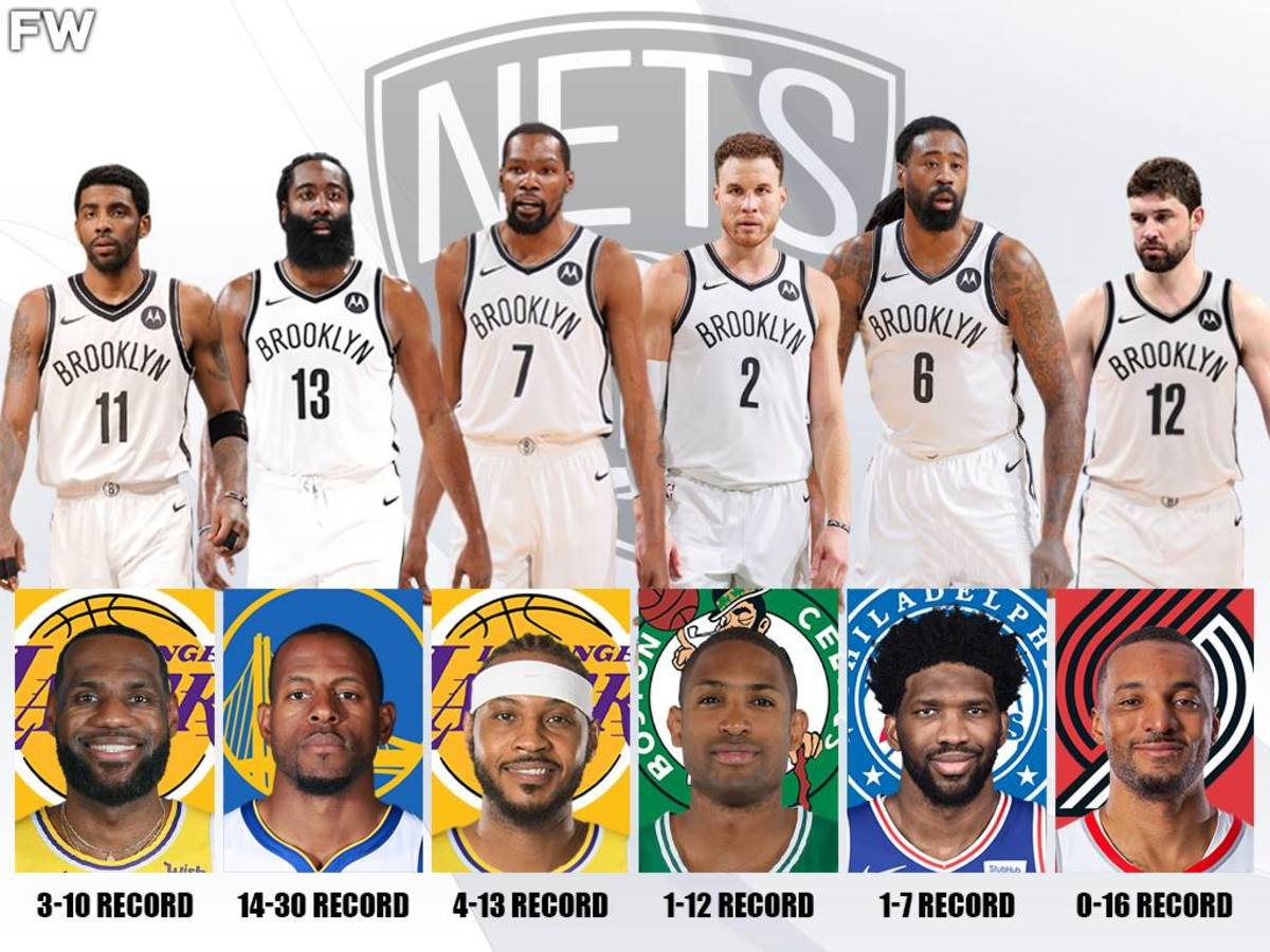 The Deadliest Kryptonite For The Brooklyn Nets: Kyrie Irving Is 3-10 Against LeBron James, Kevin Durant Is 4-13 Against Carmelo Anthony
