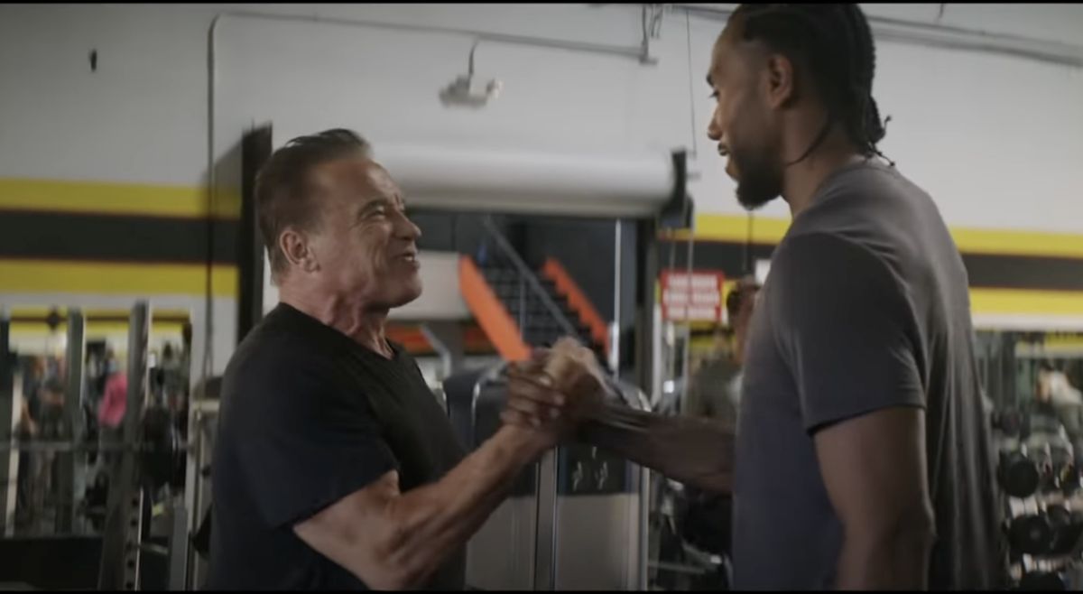 """Kawhi Leonard And Arnold Schwarzenegger Starred In A Terminator Commercial: """"Isn't This Cute? A Terminator Convention"""""""