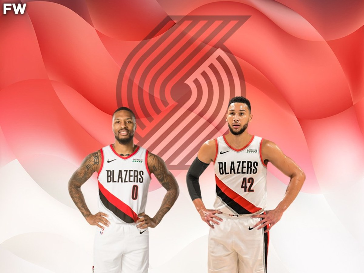 Damian Lillard Likes A Post Featuring Ben Simmons Photoshopped In A Blazers Jersey Alongside Him