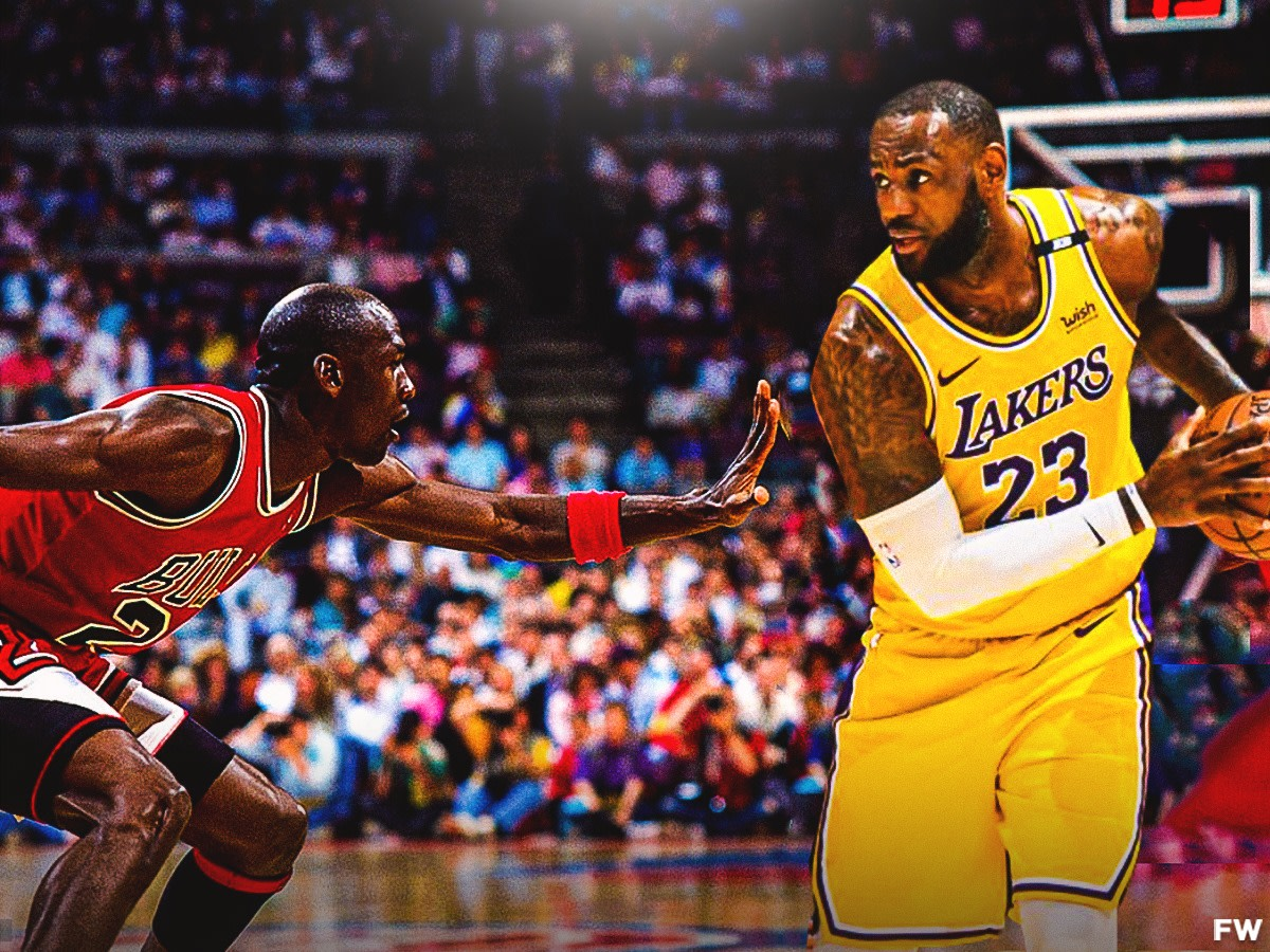 """Michael Jordan On How He Would Stop LeBron James: """"If He Goes Right He's Going To The Hole And I Can't Stop Him. So I Ain't Letting Him Go Right."""""""