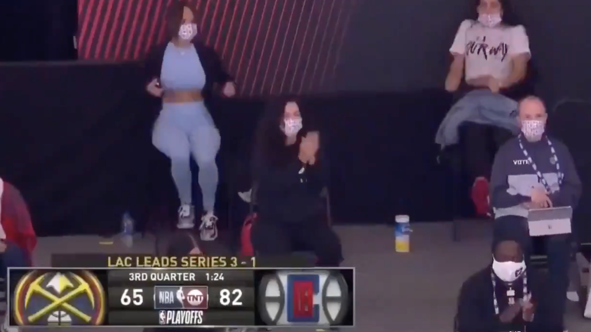 One Year Ago Today, The Clippers' Wives Danced After Team Took A Big Lead In Game 5 Against Denver In the Western Conference Semi-Finals
