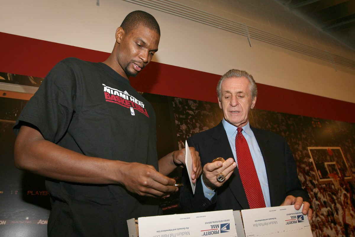 Chris Bosh Returns The Championship Ring That Pat Riley Loaned Him In The 2010 NBA Free Agency