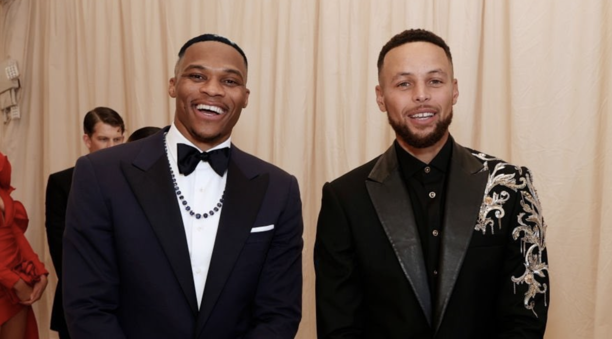 Steph Curry And Russell Westbrook Link Up At The 2021 Met Gala