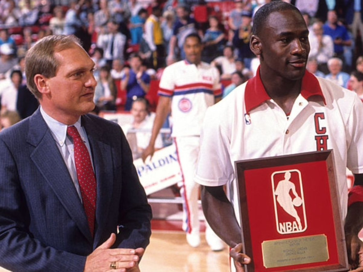 After Winning The MVP, DPOY And Scoring Title, Michael Jordan Signed An 8-Year, $25 Million Contract: 'I Think It Makes Me Work Harder And Earn What I'm Getting Paid'