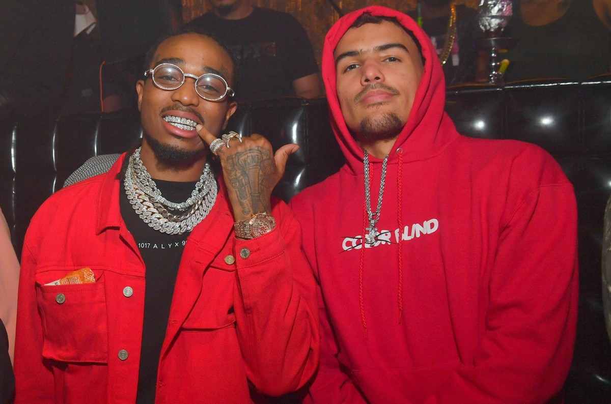 """Quavo Sheds Light On His Friendship With Trae Young: """"Whenever He Hoops, I Feel Like I'm Hoopin"""""""