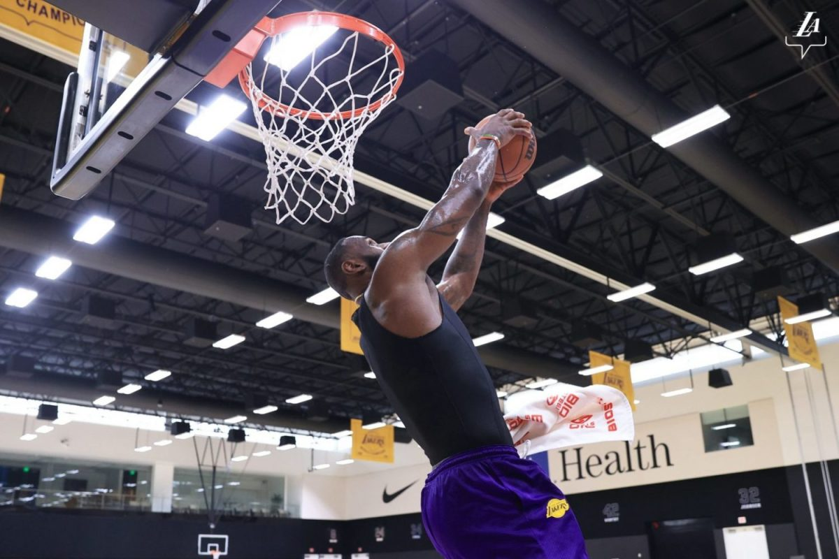 LeBron James Back In Lakers Training With Talen Horton-Tucker And Malik Monk