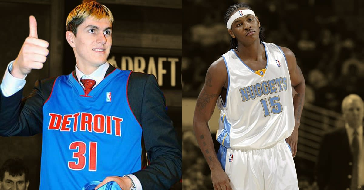 """Carmelo Anthony Says He Was """"Hurt"""" When Detroit Pistons Drafted Darko Milicic Over Him"""