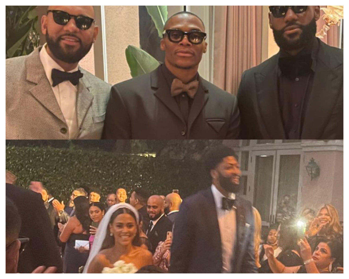 LeBron James, Russell Westbrook, And Jared Dudley Suit Up At Anthony Davis' Wedding